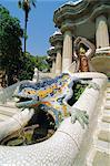Mozaic Eidechse Skulptur von Gaudi, Park Güell, Barcelona, Katalonien, Spanien, Europa