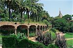 Gaudi-Architektur und Gärten, Gaudi Park Güell, Barcelona, Katalonien (Cataluna) (Katalonien), Spanien, Europa