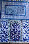Gros plan de la mosaïque, le Palais de Topkapi, Istanbul, Turquie, Europe