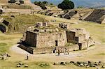 L'ancienne zapotèque ville de Monte Albán, près de la ville de Oaxaca, Oaxaca, au Mexique, en Amérique du Nord