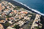 Du haut des airs, Fogo (feu), Cap vert, océan Atlantique, l'Afrique de Sao Filipe