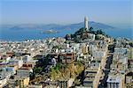 Coit Tower sur Telegraph Hill, San Francisco, Californie, États-Unis d'Amérique