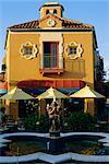 années 1920 style espagnol architecture dans le centre-ville de Sarasota, Floride, États-Unis d'Amérique