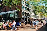 Pedestrian precinct near Faneuil Hall, Boston, Massachusetts, United States of America