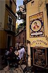 Bar à tapas, Barrio Santa Cruz, Séville, Andalousie, Espagne, Europe