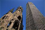 Kaiser Wilhelm Gedachtniskirche and new hexagonal Bell Tower, Berlin, Germany, Europe