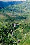Vue aérienne de l'intérieur de l'île de Kauai, y compris le Waimea Canyon, Hawaii, États-Unis d'Amérique, l'Amérique du Nord