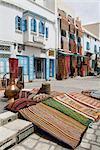 Carpet market, Kairouan, Tunisia, North Africa, Africa