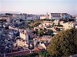 Soirée, Largo de Graca quartier de la ville de Castelo de Sao Jorge, Lisbonne, Portugal, Europe
