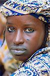Young Peul tribe woman, Sofara, Mali, Africa