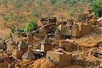 Village de boue, de la région de Sanga, Dogon, Mali, Afrique