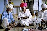 Opium ceremony, village near Jodhpur, Rajasthan state, India, Asia