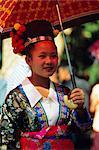 Fille de Hmong, Luang Prabang, Laos, Asie