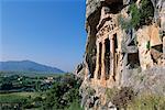 Roche tombe, Dalyan, Lycie, Anatolie, Turquie, Asie mineure, Asie