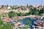 Port et ville, Antalya, Lycie, Anatolie, Turquie, Asie mineure, Asie