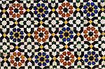 Mosaic tilework, Zaouia Moulay Idriss, an Islamic shrine, Fes el Bali, Fes (Fez), Morocco, North Africa, Africa