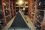 Wine cellar, Chateau Verrazzano, Chianti, Tuscany, Italy, Europe