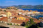 View over Portoferraio, Elba, Livorno, Tuscany, Italy