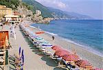 Fegina Beach, village of Monterosso al Mare, Cinque Terre, UNESCO World Heritage Site, Liguria, Italy, Mediterranean, Europe