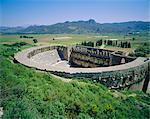 Vue du Roman Amphitheatre d'Aspendos, ruines antiques, Aspendos, Turquie, Europe