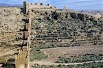Defensive walls, Muralla de la Hoya, Alcazaba, Moorish castle, Almeria, Andalucia (Andalusia), Spain, Europe