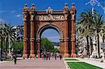 Arc de Triomf by the Modernist, Josep Vilaseca i Casanoves, Barcelona, Catalonia (Cataluna) (Catalunya), Spain, Europe