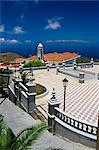 Valverde église principale et la place, Valverde, El Hierro, Iles Canaries, Espagne, Atlantique, Europe