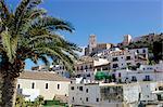 View of Ibiza old town centre, Ibiza Town, Ibiza, Balearic Islands, Spain, Mediterranean, Europe