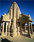 Jain temple, Amar Sagar, near Jaisalmer, western Rajasthan, Rajasthan state, India, Asia