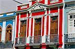 Maisons colorées dans le vieux centre, Rio de Janeiro, au Brésil, en Amérique du Sud