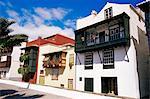 Casa de los Balcones, typical Canarian houses with balconies), Santa Cruz de la Palma, La Palma, Canary Islands, Spain, Atlantic, Europe