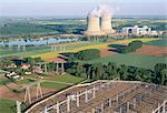 Centrale nucléaire de Saint-Laurent-des-Eaux, Pays de la Loire, vallée de la Loire, France, Europe