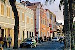 Street scene on sea front in Mindelo, capital of Sao Vicente Island, Cape Verde Islands, Atlantic Ocean