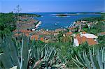 Ville de Hvar, l'île de Hvar, Dalmatie dalmate côte, mer Adriatique, Croatie, Europe