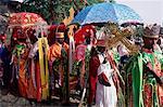 Procession for Christian festival of Rameaux, Axoum (Axum) (Aksum), Tigre region, Ethiopia, Africa