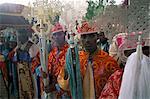 Palm Sunday procession, Axoum (Axum) (Aksum), Tigre region, Ethiopia, Africa