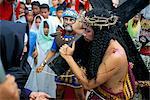 Christ du Calvaire dans l'île de Pâques procession, Morionnes, Marinduque, Philippines, Asie du sud-est, Asie