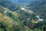 Banaue terrasses de riz champs, patrimoine mondial UNESCO, région du Nord, île de Luzon, aux Philippines, Asie du sud-est, Asie