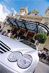 Mercedes argent au Casino, Monte Carlo, Monaco