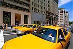 Taxis jaunes, New York, États-Unis d'Amérique