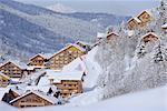 Meribel in winter, Rhone-Alpes, France