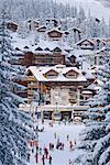Ski resort of Courchevel, Savoie, Rhone-Alpes, France