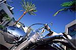 Moto sur Rodeo Drive, Beverly Hills, Los Angeles, Californie, États-Unis d'Amérique, l'Amérique du Nord