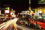 Las Vegas at night, Las Vegas, Nevada, United States of America, North America