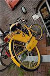 Yellow Bike, Amsterdam, Holland