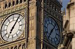 Gros plan sur le cadran de l'horloge de Big Ben, Westminster, Londres, Royaume-Uni, Europe