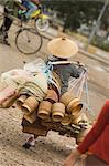 Morning market, Vientiane, Laos, Indochina, Asia