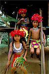 Jeune Embera Indians, Parc National de Soberania, Panama, l'Amérique centrale