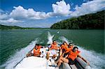 Le lac Gatún, Parc National de Soberania, Canal de Panama, Panama amerique centrale