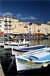 Bateaux et front de mer, St. Tropez, Var, Côte d'Azur, Provence, Côte d'Azur, France
